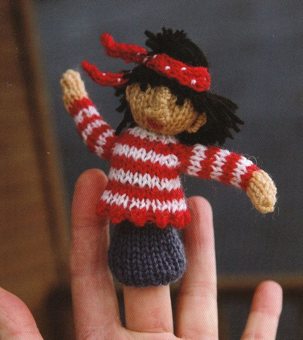 Susie Johns At The Circus Knitted Finger Puppets