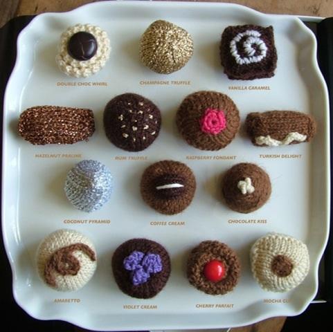 Knitted chocolates menu