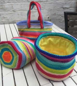 Rainbow baskets